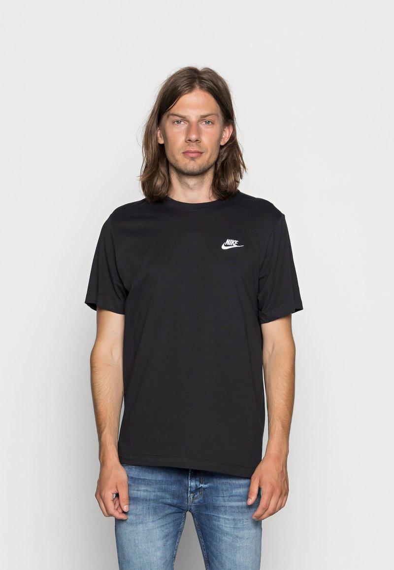 Nike Sportswear - CLUB TEE - T-paita - black/white