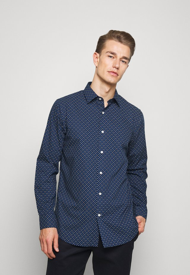 SQUARE PRINT - Shirt - dark blue