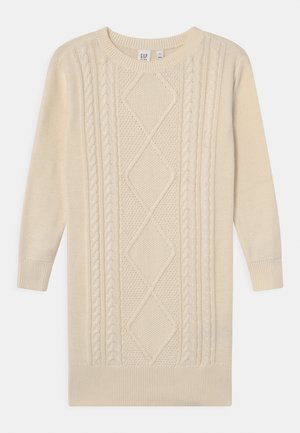 GIRL CABLE DRESS - Jumper dress - ivory frost