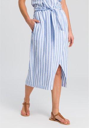 A-line skirt - blue varied
