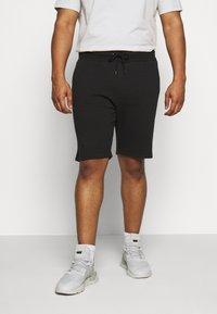 Pier One - 2 PACK - Shorts - black/mottled light grey - 1