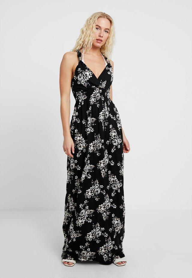 Korte jurk - schwarz/crem