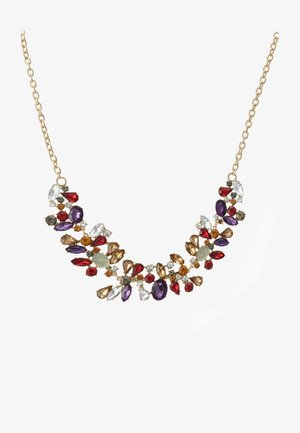 PCFLORINNA STONE NECKLACE - Collier - gold-coloured/red