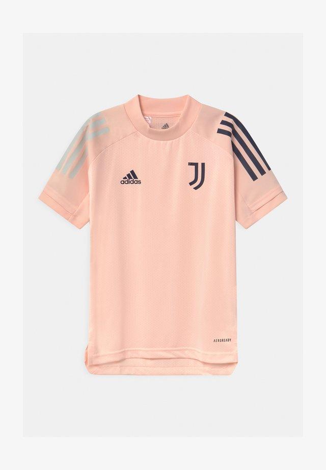 JUVENTUS AEROREADY SPORTS FOOTBALL UNISEX - T-shirt print - pink/dark blue