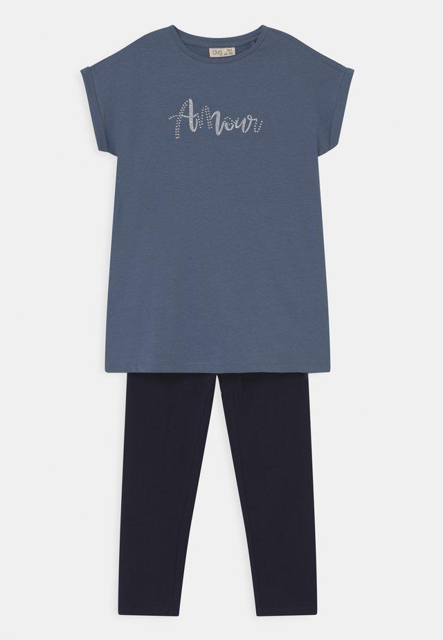 SET - T-shirt print - coronet blue