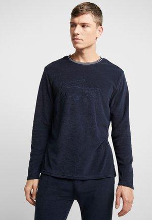 LONG SLEEVE CREWNECK - Camiseta de pijama - navy