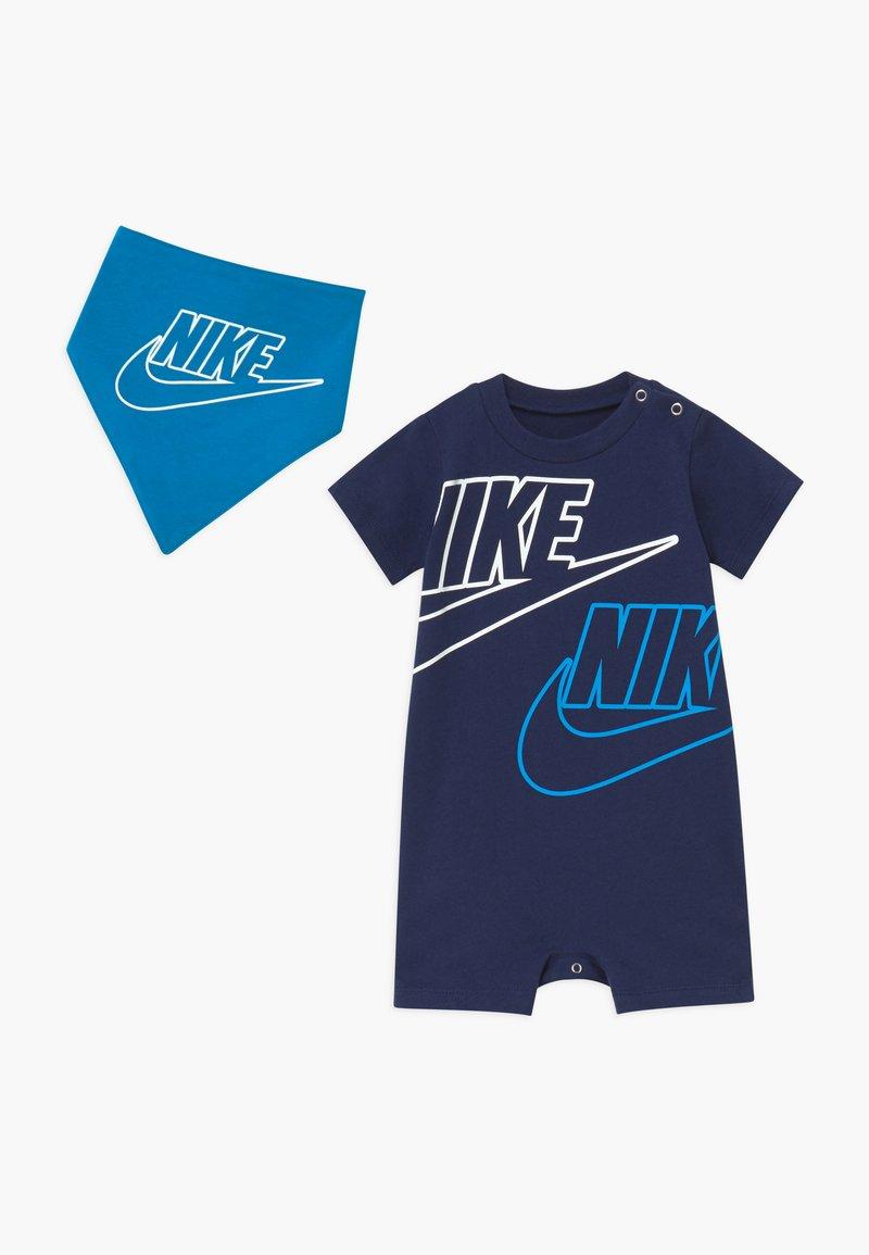 Nike Sportswear - JUMBO FUTURA ROMPER BABY SET  - Combinaison - midnight navy
