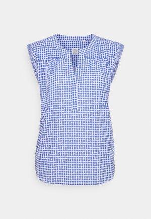 Print T-shirt - azur/white