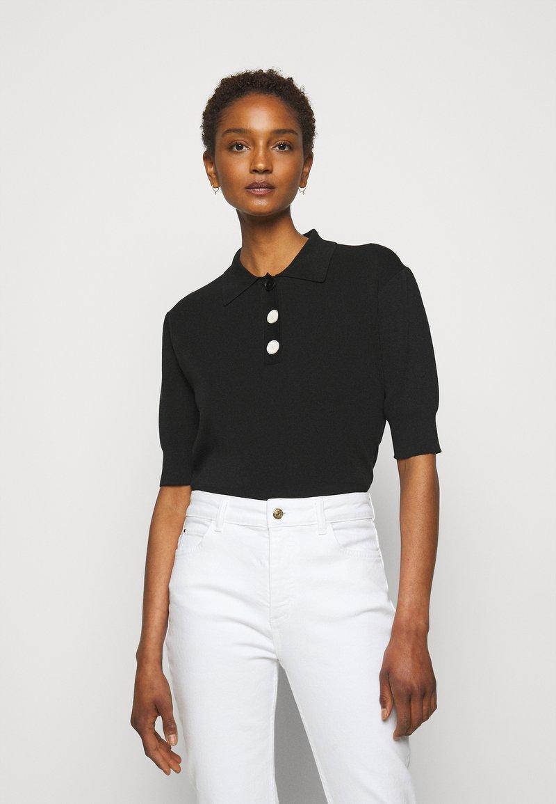 Claudie Pierlot - MINIMA - Poloshirt - noir
