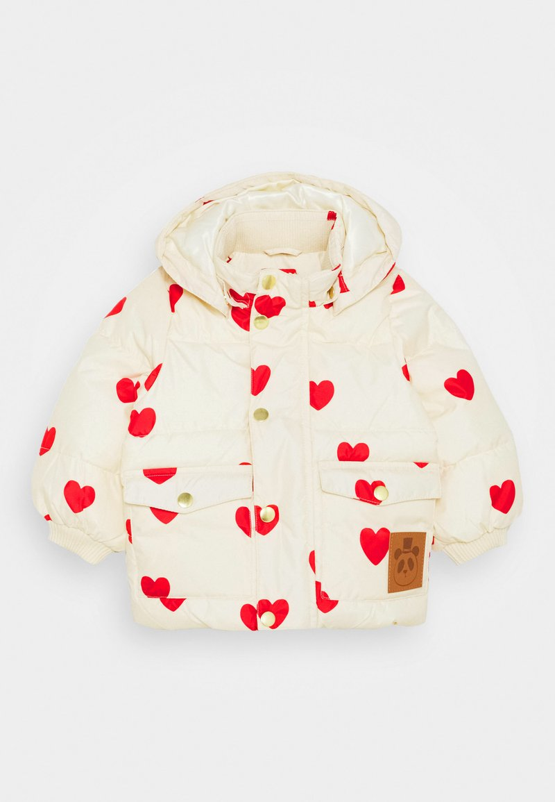 Mini Rodini - BABY HEARTS PICO PUFFER JACKET - Winter jacket - offwhite
