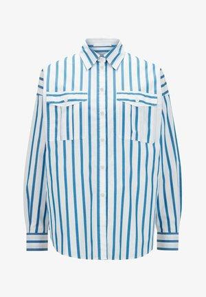 BERUNO - Button-down blouse - open blue