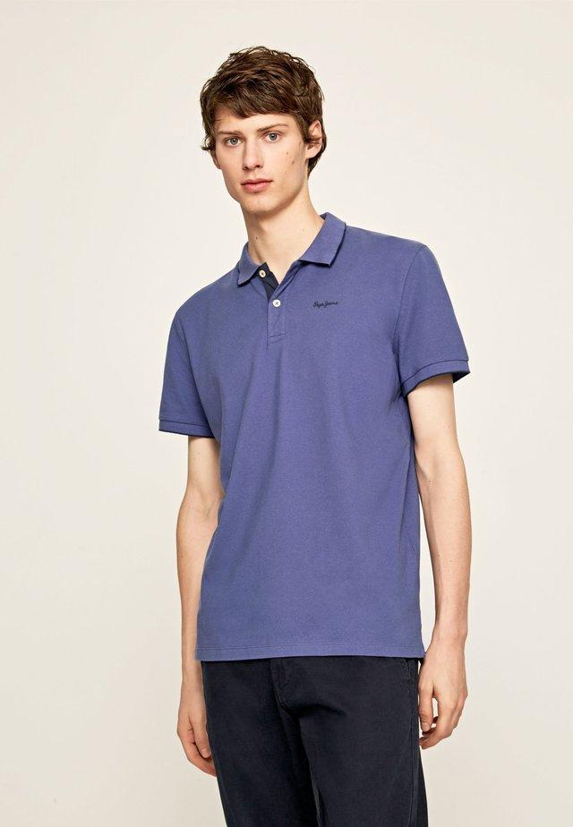LUCAS - Polo - stahl blau