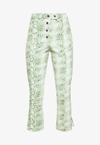 THE HIGH WAISTED BUTTON FLY TROUSER - Stoffhose - green