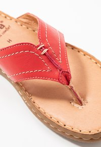 Jana - SLIDES - T-bar sandals - chili - 2