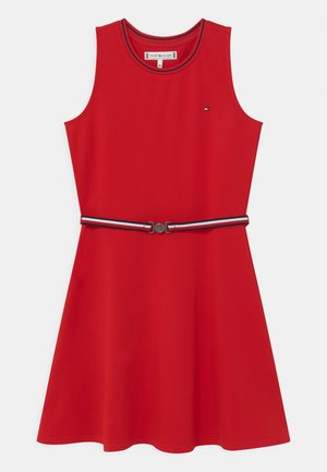 PUNTO MILANO SKATER  - Jersey dress - deep crimson
