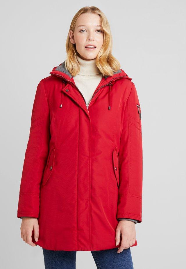 Winter coat - signal red