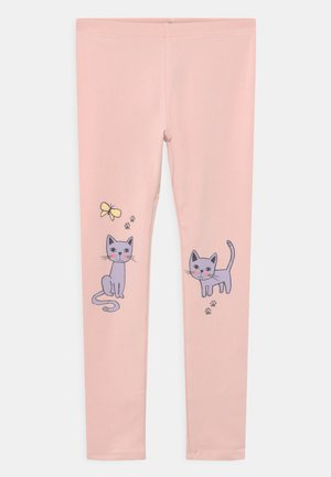 MINI CAT PRINT - Leggings - Trousers - light dusty pink