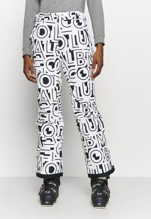 KICK TURNER INSULATED PANT - Spodnie narciarskie - white