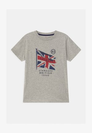 FLAG - Print T-shirt - mottled grey