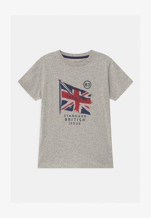 FLAG - T-shirt imprimé - mottled grey