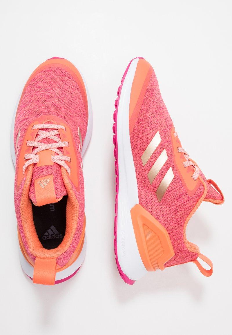 adidas Performance - RAPIDARUN X - Neutral running shoes - semi coral/copper metallic/real magenta