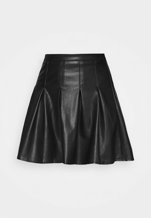 PLEATED MINI SKIRT - Minijupe - black