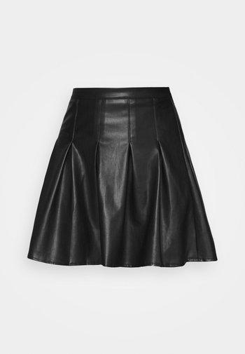 PLEATED MINI SKIRT - Minijupe - black