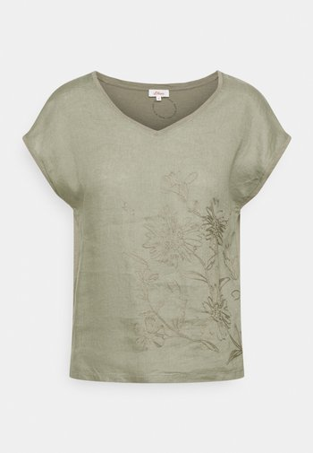 Print T-shirt - summer khaki