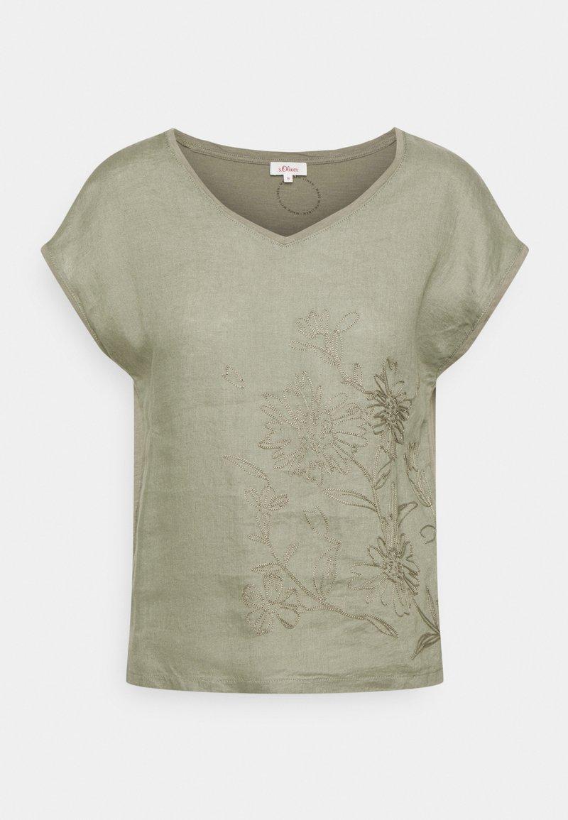 s.Oliver - Print T-shirt - summer khaki