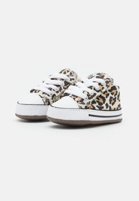 Converse - CHUCK TAYLOR ALL STAR CRIBSTER ARCHIVE ANIMAL PRINT UNISEX - First shoes - natural ivory/doe/black