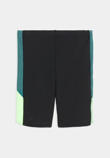 DIVE JAMMER - Swimming trunks - black/swell green/zest green