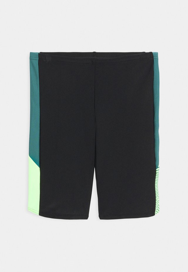 DIVE JAMMER - Swimming trunks - black/swell green/zest green