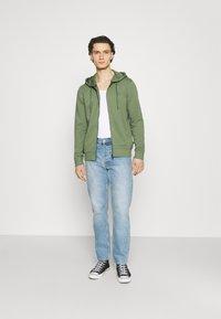 Esprit - Zip-up hoodie - light khaki - 1