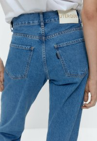 Uterqüe - Straight leg jeans - blue denim - 4