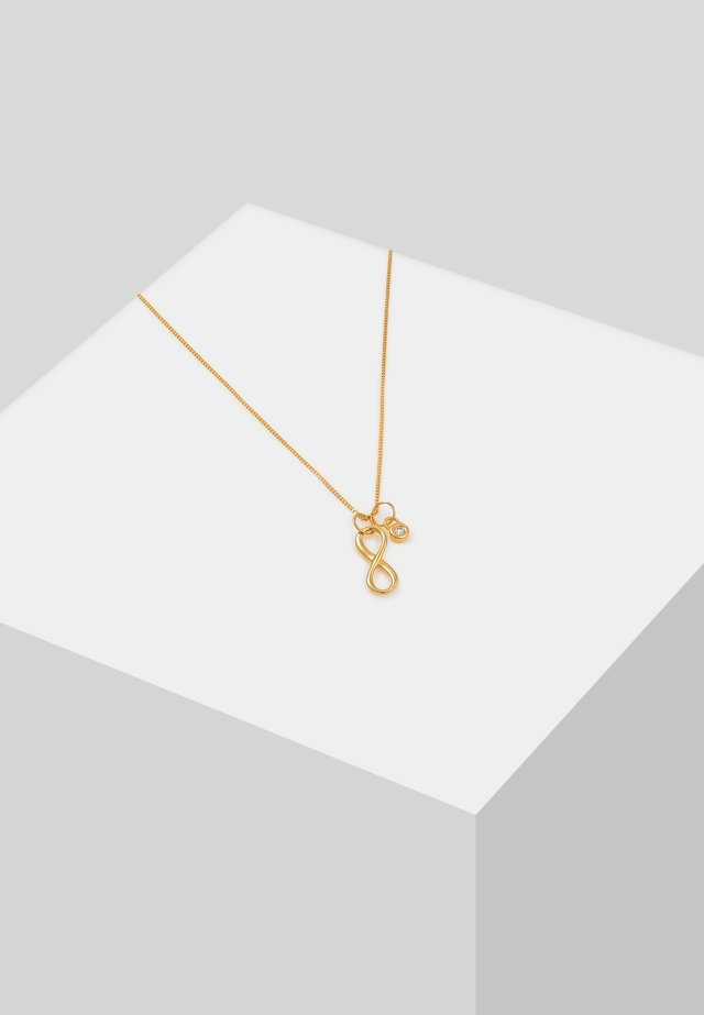 INFINITY SOLITÄR - Necklace - gold-coloured