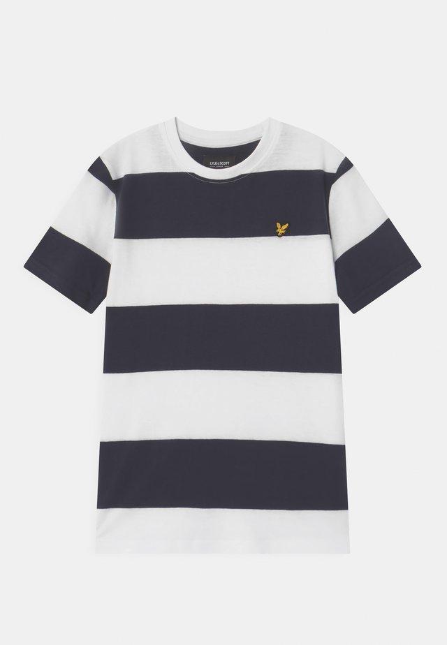WIDE STRIPE - T-shirt print - bright white