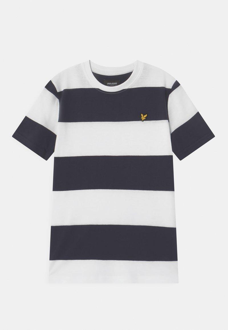 Lyle & Scott - WIDE STRIPE - Print T-shirt - bright white