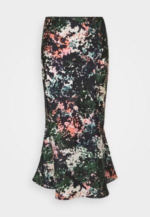 BLOOM PRINT SLIP SKIRT - A-line skirt - navy