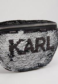 KARL LAGERFELD - SEQUIN BUMBAG - Bum bag - black - 5