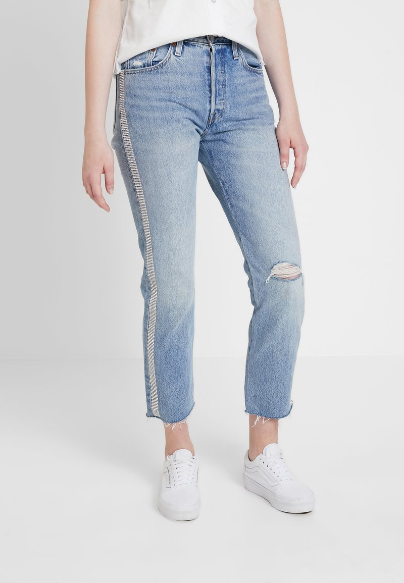 Levi's® - 501® CROP DIAMOND IN THE ROUGH 501 CROP - Jeansy Straight Leg - rough 501 crop
