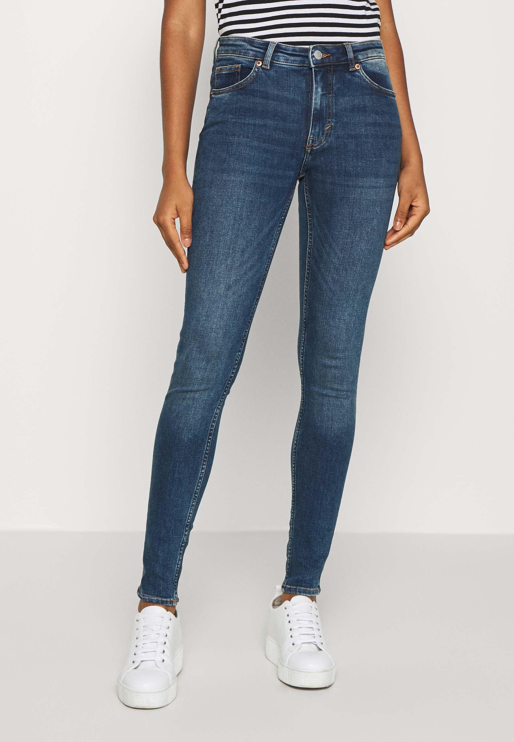 Women Jeans Skinny Fit - blue/medium-dusty