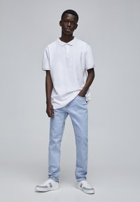 PULL&BEAR - Jeansy Straight Leg - mottled light blue - 1