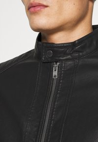 TOM TAILOR - Faux leather jacket - black - 5