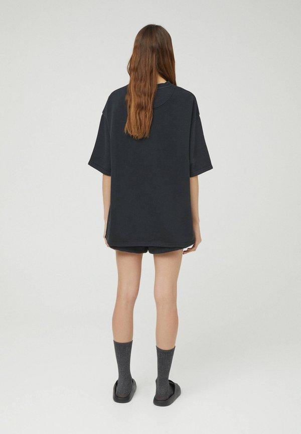 PULL&BEAR T-shirt basic - black/czarny Odzież Męska OYUR