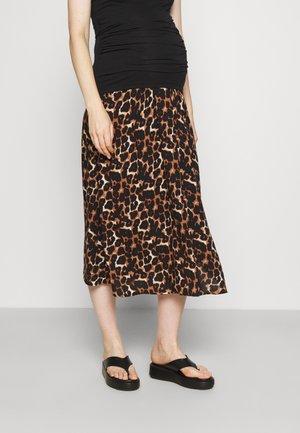 PCMCARLA MIDI SKIRT - A-line skirt - brown