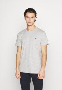 Jack & Jones - JORTIMES TEE CREW NECK 5 PACK - Basic T-shirt - dark blue/black/white/light grey/khaki - 6