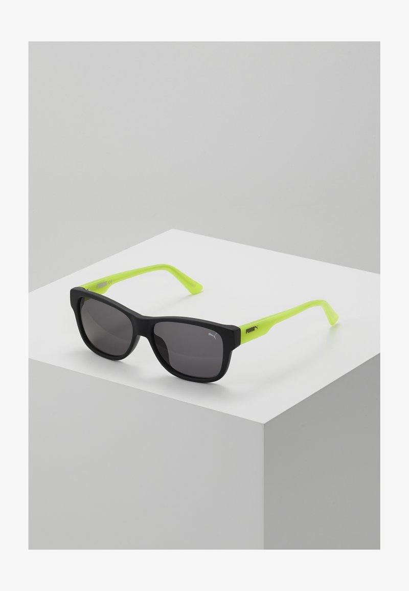 Puma - SUNGLASS KID  - Sunglasses - black/green/grey