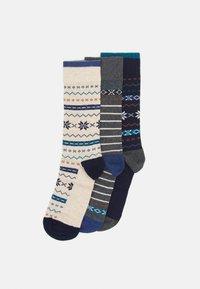 dark blue/mottled grey/offwhite
