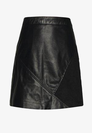 VIHALLO SHORT SKIRT - A-line skirt - black/black