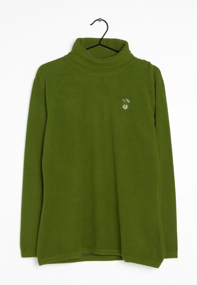 Fleece trui - green